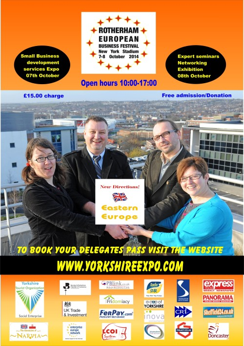 Rotherham European Business Festival, New York Stadium, Link to Eastern Europe, Skilled immigrants, small businesses, business development, chance get new skills